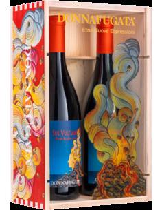 Red Wines - Etna Nuove Espressioni - Wooden and plexiglass box for 2 bottles (2x750 ml.) - Donnafugata - Donnafugata - 1