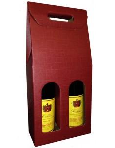 Scatola per 2 Bottiglie Verticale Bordeaux