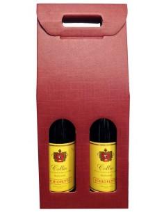 Scatole Regalo - Scatola per 2 Bottiglie Verticale Bordeaux - Vino45 - 2