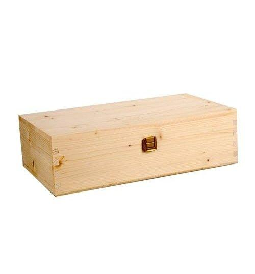 Wooden Boxes - Gift Box  in Solid Fir Wood for 2 Bottles of Wine of 750 ml. - Vino45 - 1