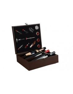 Cassetta in Legno per Degustazione Vino con 12 Accessori