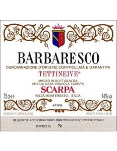 Vini Rossi - Barbaresco DOCG Tettineive 2001 - Scarpa -  - 2