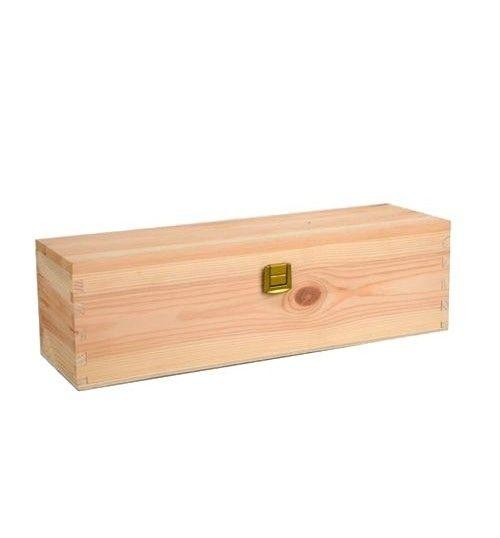Wooden Boxes - Gift Box  in Solid Fir Wood for 1 Bottle of Champagne of 750 ml. - Vino45 - 1