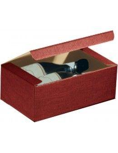 Gift Boxes - Burgundy Horizontal Wine Holder Gift Box for 2 Bottles - Vino45 - 1