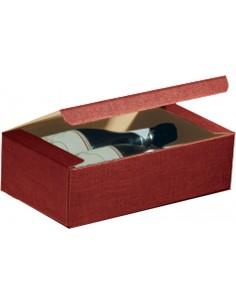 Scatola per 2 Bottiglie Orizzontale Bordeaux