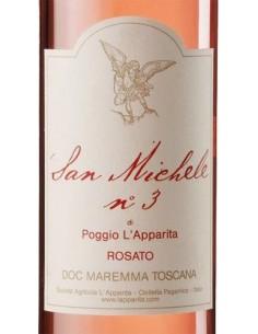 Vini Rose' - Maremma Toscana Rosato DOC 'San Michele N.3'  2016 (750 ml.) - Poggio L'Apparita - Poggio l'Apparita - 2