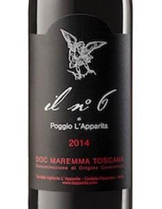 Vini Rossi - Maremma Toscana Rosso DOC Il N. 6 2014 - Poggio L'Apparita - Poggio l'Apparita - 2
