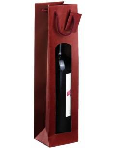 Sacchetti Regalo - Sacchetto Portabottiglie Bordeaux con Finestra per 1 Bottiglia - Vino45 - 1