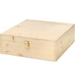 Wine Box for 3 Bottles Solid Fir with joint and hinges