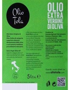 Extra Virgin Olive Oil DOP (5 L) 2018 - Olio Tola