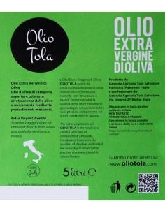 Olio Extra Vergine di Oliva DOP (5 L) 2018 - Olio Tola