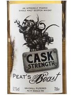 Single Malt Scotch Whisky 'Cask Strength' (700 ml.) - Peat's Beast