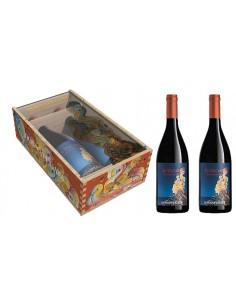 Red Wines - Etna Nuove Espressioni - Wooden and plexiglass box for 2 bottles (2x750 ml.) - Donnafugata - Donnafugata - 2