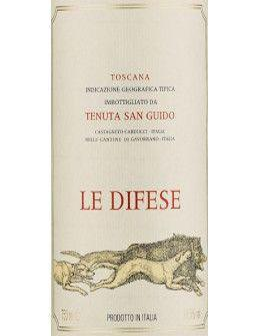 Toscana IGT 'Le Difese' 2015 - Tenuta San Guido