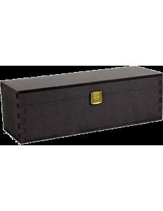 Wooden Boxes - Wood Anthracite Gift Box Wine Holder for 1 Bottle of 750 ml. - Vino45 - 1