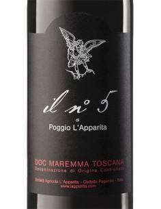 Red Wines - Maremma Toscana Rosso DOC 'Il N. 5' 2016 (750 ml.) - Poggio L'Apparita - Poggio l'Apparita - 2