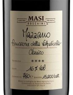 Red Wines - Amarone della Valpolicella Classico DOCG 'Mazzano' 2012 (750 ml.) - Masi - Masi - 2