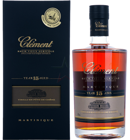 Rum - Rhum Tres Vieux Agricole '15 Year Old' (700 ml. gift box) - Clement - Clement - 1
