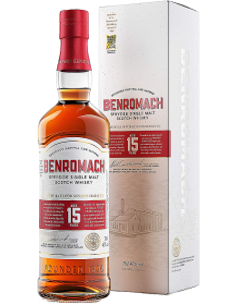 Whiskey Single Malt - Single Malt Scotch Whisky Speyside '15 Years Old' (700 ml. boxed) - Benromach - Benromach - 1