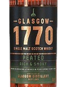 Peaty Whiskey - Single Malt Scotch Whisky 'Peated' (500 ml. boxed) - 1770 Glasgow - 1770 Glasgow - 3